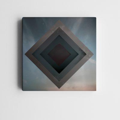 BricolArts - MadeInRealtime - Print on canvas - Cube Sky