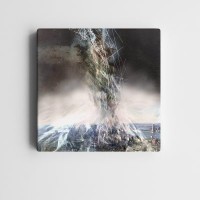 BricolArts - MadeInRealtime - Print on canvas - Burning City