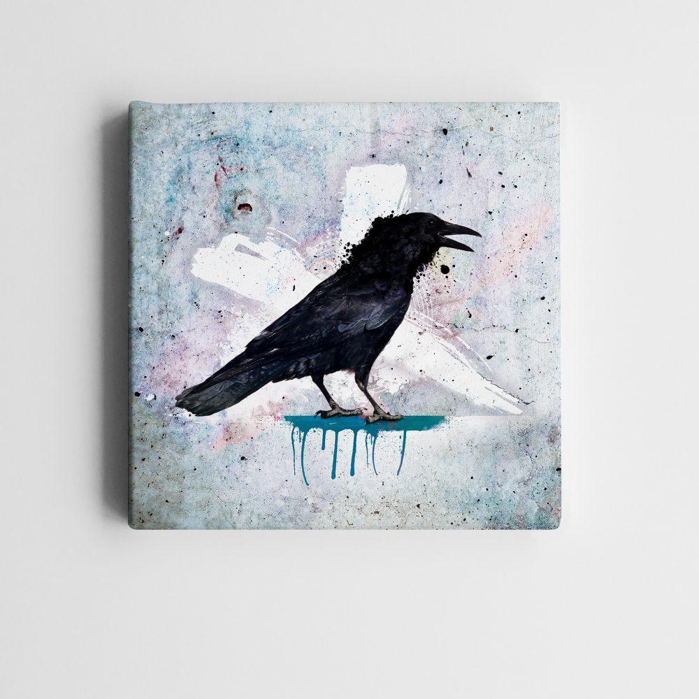 BricolArts - MadeInRealtime - Print on canvas - Crow