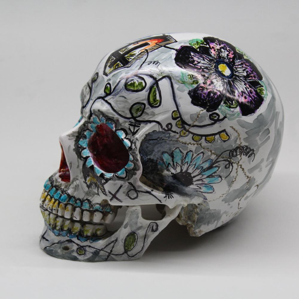 BricolArts - Dazerik - Skull - Día de los Muertos Skull - 003