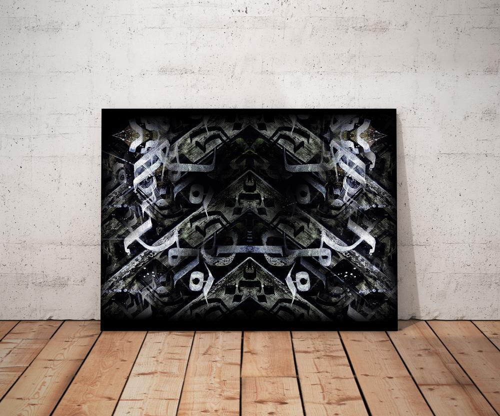 BricolArts - Ellie - Canvas - Print - Empire In Flames